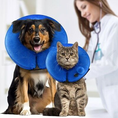 Protective Self Inflatable Collar Soft Cone After Surgery Recovery Pets Dog Cat