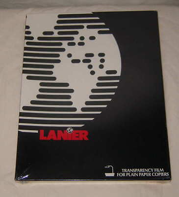"Lanier Transparency Film 100 Sheets 8.5""x11"" #108-0556 For Plain Paper Copiers"