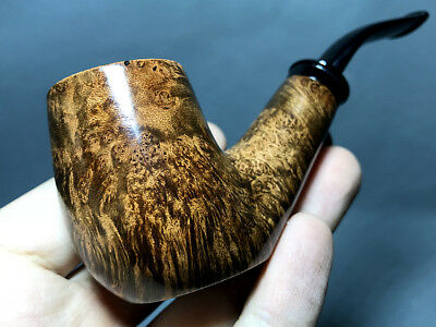 Road Town Sitter Bent Style Briar wood craft pipe--- unsmoked