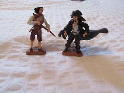 PIRATES of the CARIBBEAN DISNEY FIGURES Cake TOPPERS DECOPAC PVC LOT SET 2