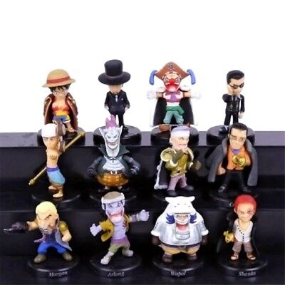 12pc 2inch One Piece PVC Action Figures Luffy Sabo Shanks Lucci Collection Toys