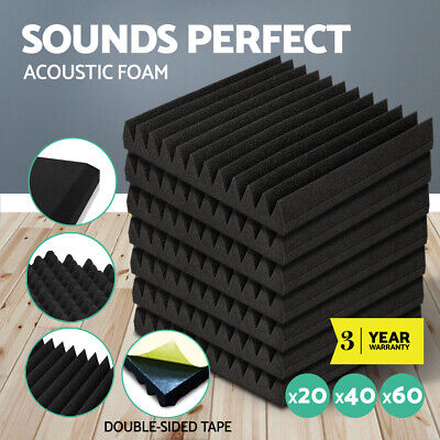 20 40 60pcs Acoustic Foam Home Studio Sound Absorption Proofing Panel Corner