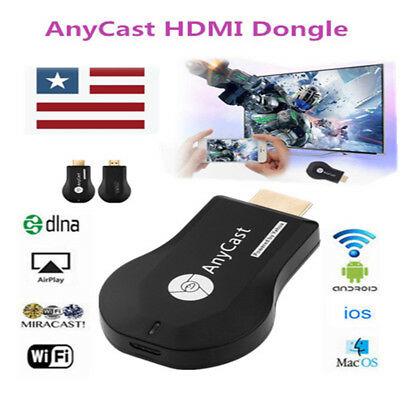 AnyCast Mini WiFi Display Dongle Receiver 1080P TV Stick DLNA Airplay Miracast