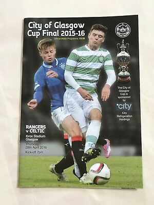 Celtic  v Rangers Scottish  Glasgow Cup Final 2016 MINT Programme