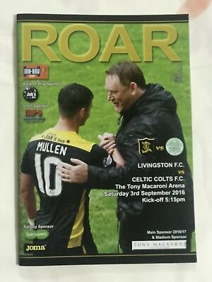 Livingston v Celtic  3rd Sept 2016 Mint Cup Programme Invincible s Season