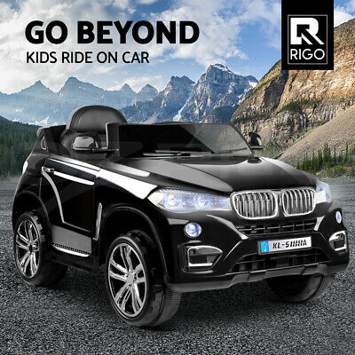 RIGO Kids Ride On Car Electric Toys Battery 12V Remote Black Children Cars