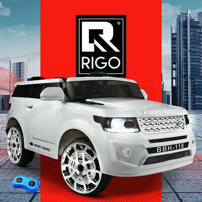 RIGO Kids Ride On Car Electric Toys Battery Remote Children Cars Black White