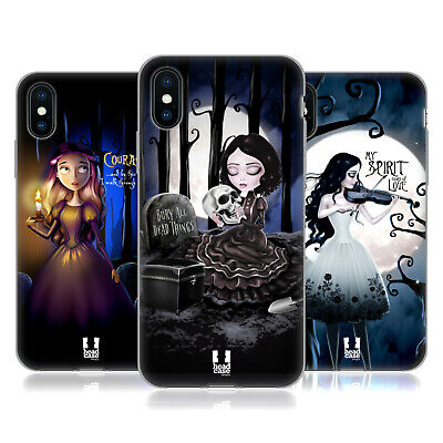 HEAD CASE DESIGNS ART MACABRE GEL CASE FOR APPLE iPHONE PHONES