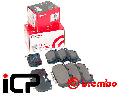 Brembo 4 & 2 Pot Front Rear Brake Pads Fits: Subaru Impreza Turbo 96-07 WRX 22B