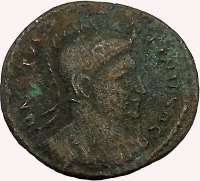 ConstantineThe Great in helmet 320AD Ancient Roman Coin Vexillum Flag   i35328