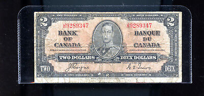 1937 Bank of Canada $2 Coyne Towers DCW53