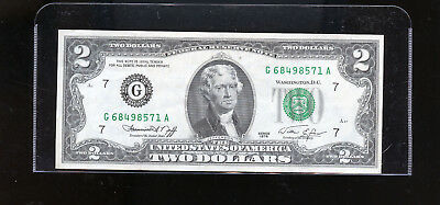 1976  USA $2 Federal Reserve Banknote DCW45
