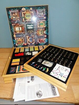 Monopoly And Cluedo Compendium Board Game Solid Wood Cabinet Family Games
