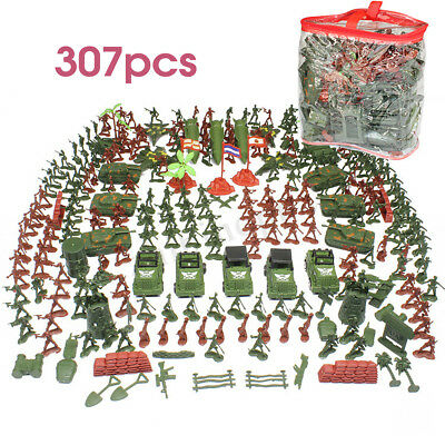 307Pcs Military Soldier Army Plastic Figure Toys Collection Kids Children Gifts