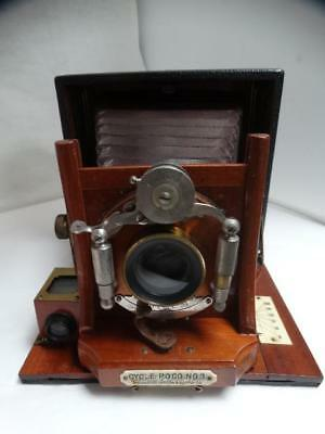 Excellent CYCLE POCO NO. 3 LARGE FORMAT 4X5 BOX CAMERA w/CASE & Film Holders