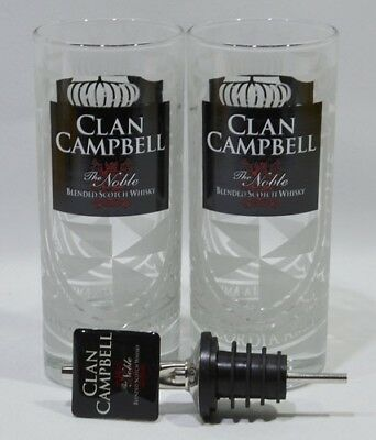 CLAN CAMPBELL Whisky the Noble 2 verres 17 cl + 1 doseur NEUF