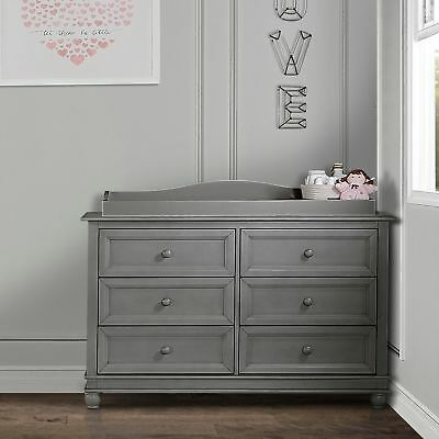 Evolur Grey Wood Fully Assembled Changing Tray