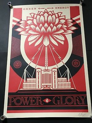 SHEPARD FAIREY OBEY Green Power SIGNED art poster print Giant