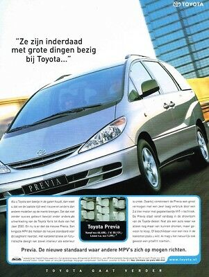 2000 Toyota Previa (Dutch, 1pg.) Advertisement (AAC.289)