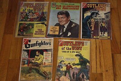 Outlaws Of The West Charlton Comics Issue Western Lot Gunfighters Bat Masterson