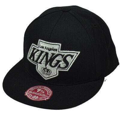 new concept edf25 667bf ... LA Kings Mitchell and Ness Vintage   Throwback Fitted Hat Cap.