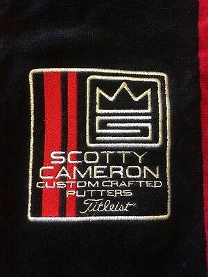 RARE Scotty Cameron S CROWN Custom Crafted Putters Tee Black Towel Titleist NEW