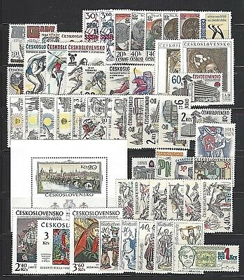 CZECHOSLOVAKIA Sc#2155/2217,  1978 Year Set Collection 53 STAMPS & 1 S/S Mint NH