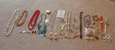 HUGE Vintage to Now Jewelry Lot Some New Necklaces, Pins, Bracelets, Earrings #1