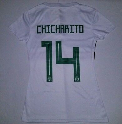 3d5dfd65859 CHICHARITO #14 Women's Mexico Home 2018 Unbranded White Soccer Jersey