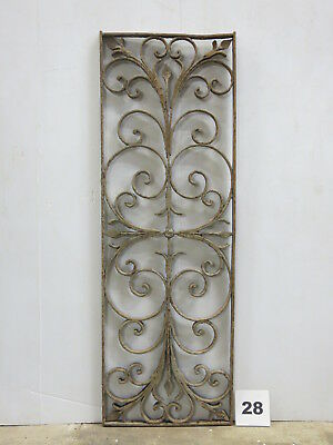 Antique Egyptian Architectural Wrought Iron Panel Grate (E-28)