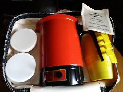 Vintage West Bend  Instant Hot Pot Travel Caddy Camping Case  Tailgate