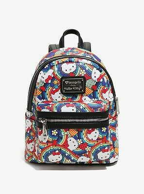 Loungefly Hello Kitty Rainbow Mini Backpack Purse *BRAND NEW WITH TAGS*