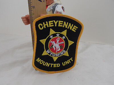 Vintage Cheyenne Wyoming SEW IRON ON EMBROIDERED PATCH  UNUSED Mounted Unit