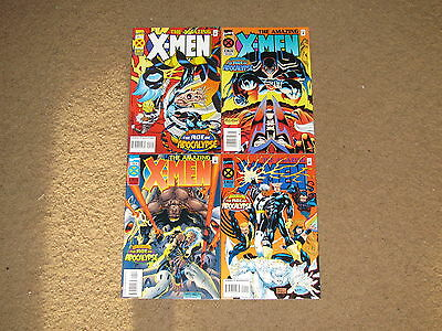 THE AMAZING X-MEN Age of Apocalypse 1 - 4 Complete Mini-Set!!  1995  VF+