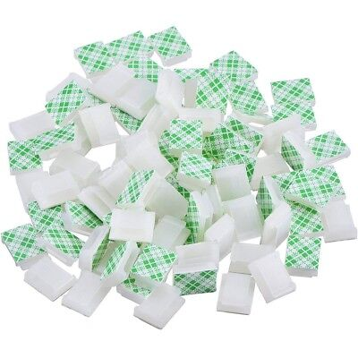 100 Pieces Self Adhesive Cable Clips Wire Cable Management Cable Tie Wire RB