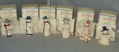 1999 Enesco Snowsnickle Littlesnickles Lot of 6 in Box w/ Hang Tags $5 US Ship!