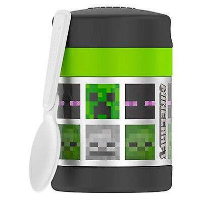 MINECRAFT CREEPER Thermos FUNtainer Stainless Steel Insulated 10 oz. Food Jar