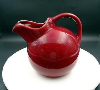 "Coorsite Pottery California #937 Burgundy 7"" Tilt Ball Pitcher"