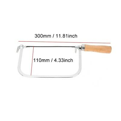 """6"""" Coping / Fret Saw Wood Handle Steel Metal Frame With 5 Blades"""