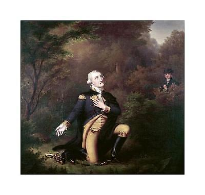 Paul Weber George Washington In Prayer At Valley Forge Giclee 16x15.25