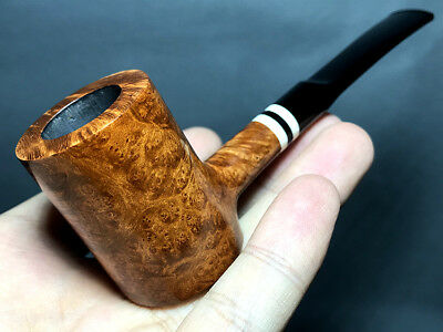 Road Town Small Poker Style Briar wood craft pipe--- unsmoked