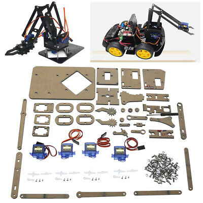 DIY Robot Arm Claw Arduino + Servos Kit Mechanical Grab Manipulator Assemble Set