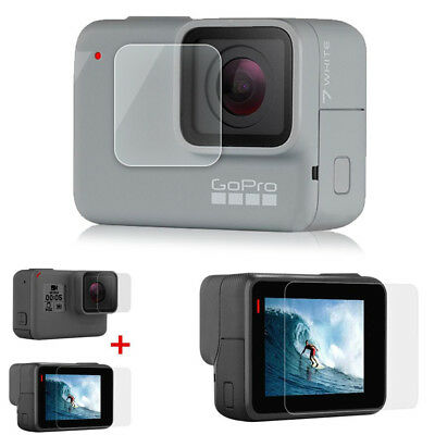 2 Pcs 9H Tempered Glass Screen Protector Lens Film Kits for GoPro Hero 7