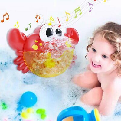 Crab Bubble Maker Automated Spout Musical Bubble Machine Bath Kids Fun Toy Gifts