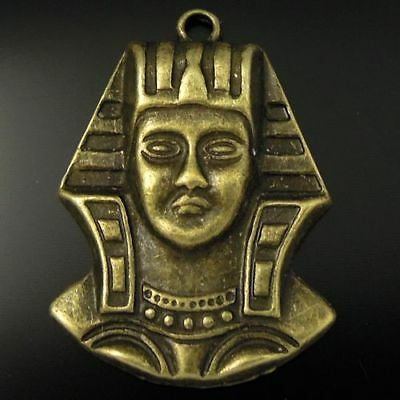 10x Antique Bronze Metal Holy Pharaoh Head Charms Pendant Findings Crafts making