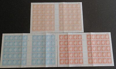 St VINCENT GRENADINES 1977 & 78 Royal Visit 3 Complete Sheets of 50 MNH