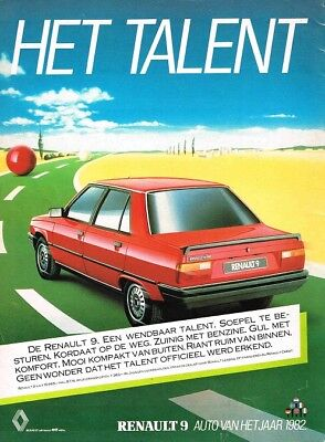 1982 Renault 9 Auto Van Het Jaar (Dutch, 1pg.) Advertisement (AAC.500)