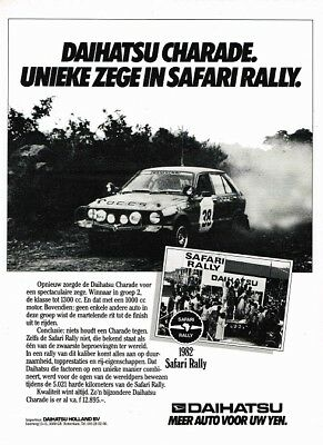 1982 Daihatsu Charade Safari Rally (Dutch, 1pg.) Advertisement (AAC.515)