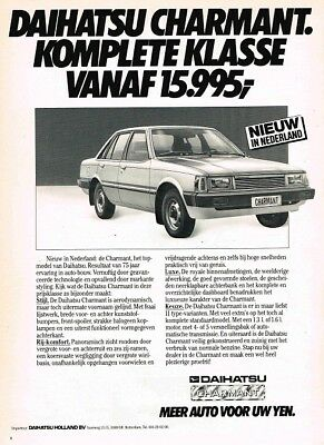 1982 Daihatsu Charmant (Dutch, 1pg.) Advertisement (AAC.518)