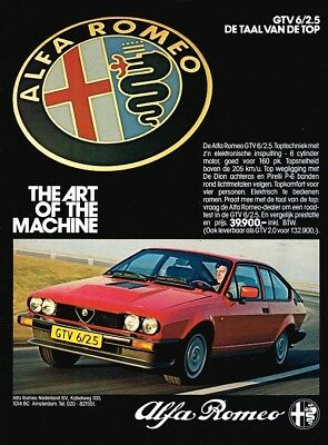 1982 Alfa Romeo GTV6 2.5 (Dutch, 1pg.) Advertisement (AAC.532)